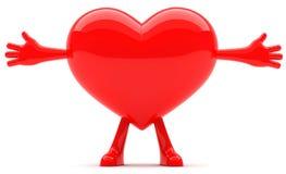 Mascote dada forma coração Fotos de Stock