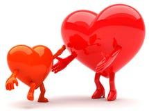 Mascote dadas forma coração Fotografia de Stock Royalty Free