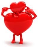 Mascote dadas forma coração Foto de Stock Royalty Free