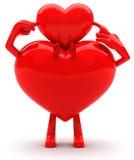 Mascote dadas forma coração Fotos de Stock Royalty Free