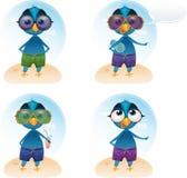 Mascote das férias de verão de Tweety do vetor Foto de Stock Royalty Free