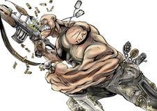 Mascote de alta qualidade da ilustração do soldado, tampa, fundo, papel de parede ilustração stock