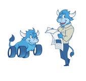 Mascote de Bull Foto de Stock Royalty Free