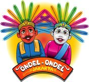 Mascote de Ondel-ondel da província de DKI Jakarta ilustração stock