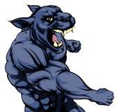 Mascote de perfuração da pantera Fotos de Stock Royalty Free