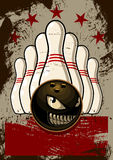 Mascote do boliches Imagens de Stock
