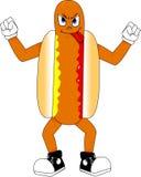 Mascote do cachorro quente Imagem de Stock