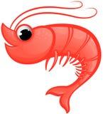 Mascote do camarão Foto de Stock Royalty Free
