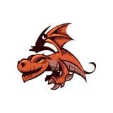 Mascote do dragão dos desenhos animados Fotografia de Stock Royalty Free