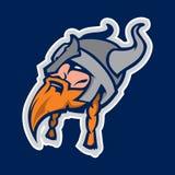 Mascote do esporte da cabeça de Viking Imagens de Stock