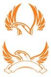 Mascote do esporte de Phoenix etiqueta logotype Fotografia de Stock