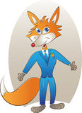 Mascote do Fox Imagem de Stock