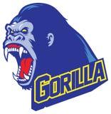 Mascote do gorila Imagem de Stock