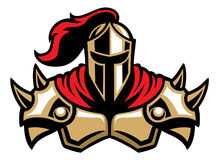 Mascote do guerreiro do cavaleiro Fotos de Stock