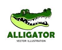 Mascote do jacaré dos desenhos animados ilustração do vetor