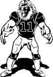 Mascote do leão do futebol Fotografia de Stock