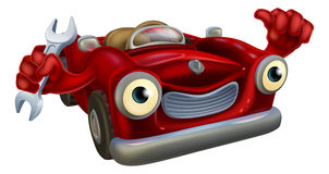 Mascote do mecânico de carro Imagens de Stock Royalty Free