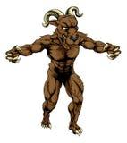 Mascote do monstro do Ram Fotos de Stock
