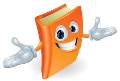 Mascote do personagem de banda desenhada do livro Imagens de Stock