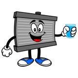 Mascote do radiador com água ilustração royalty free