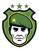 Mascote do soldado Imagens de Stock