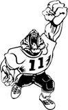 Mascote do tigre do futebol Foto de Stock Royalty Free