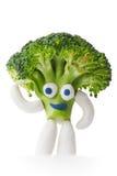Mascote dos brócolis Imagens de Stock Royalty Free
