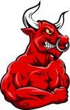 Mascote forte de Bull Fotos de Stock
