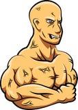 Mascote forte do homem Foto de Stock Royalty Free