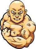 Mascote forte do homem Imagem de Stock