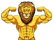 mascote forte irritada do leão ilustração do vetor ilustração de
