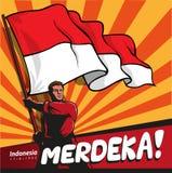 Mascote Indonésia Merdeka Fotografia de Stock