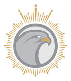 Mascote irritada da águia etiqueta logotype Imagem de Stock Royalty Free