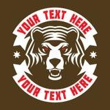 Mascote irritada da cabeça do urso pardo Fotografia de Stock