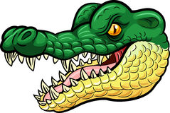 Mascote irritada do crocodilo dos desenhos animados Imagens de Stock