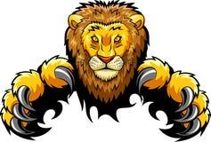 Mascote irritada do leão Imagens de Stock