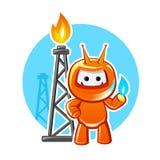 Mascote natural da indústria do gás ilustração stock