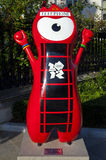 Mascote olímpica de Londres 2012 Imagem de Stock Royalty Free