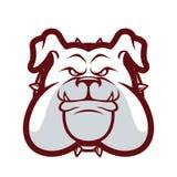Mascote principal do buldogue ilustração royalty free