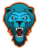 Mascote principal do leão, versão colorida Grande para logotipos dos esportes & mascote da equipe da faculdade Fotos de Stock Royalty Free
