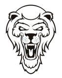Mascote principal do leão, versão colorida Grande para logotipos dos esportes & mascote da equipe da faculdade Fotografia de Stock Royalty Free