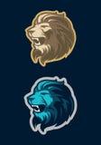 Mascote principal do leão, versão colorida Grande para logotipos dos esportes & mascote da equipe da faculdade Imagem de Stock