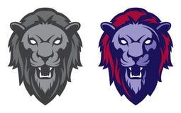 Mascote principal do leão, versão colorida Grande para logotipos dos esportes & mascote da equipe da faculdade Imagem de Stock Royalty Free