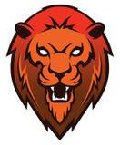 Mascote principal do leão, versão colorida Grande para logotipos dos esportes & mascote da equipe da faculdade Fotos de Stock