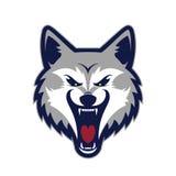 Mascote principal do lobo ilustração stock