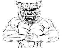 Mascote resistente do lobo Imagem de Stock