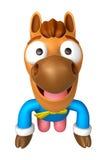 A mascote tradicional do cavalo 3D de Coreia é um cumprimento polido Imagem de Stock Royalty Free
