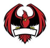 Mascote vermelha do pássaro Fotografia de Stock Royalty Free