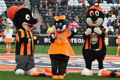 Mascots of FC Shakhtar Royalty Free Stock Photo