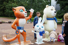 Mascots of the Olympic Games 2014 Royalty Free Stock Image
